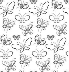 Butterfly set pattern black on white simbols vector