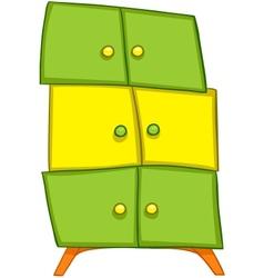 cartoon home furniture wardrobe vector image