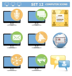 Computer Icons Set 12 vector image