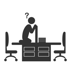 Flat office icon with disappeared worker isolated vector image vector image