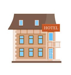 hotel flat icon vector image vector image