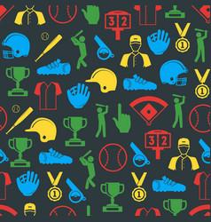 symbol of sport baseball seamless pattern vector image
