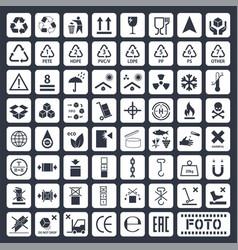Cargo icons set vector
