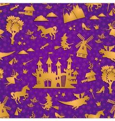 fairytale pattern vector image