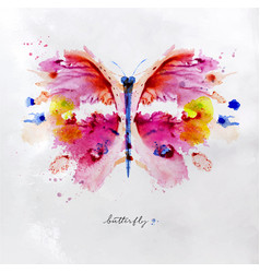 monotype vivid butterfly vector image vector image