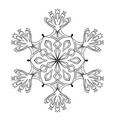 snow flake in zentangle doodle style mandala for vector image vector image