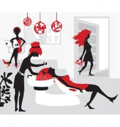 stylized beauty salon vector image vector image