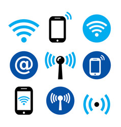 wifi network wireless internet zone smartphone vector image vector image