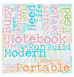 Build Your Own Notebook text background wordcloud vector image vector image