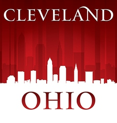 Cleveland Ohio city skyline silhouette vector image vector image
