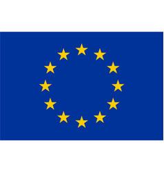 flag of european union eu twelve gold stars on vector image vector image
