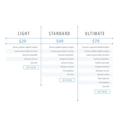 minimalistic modern price list template for the vector image vector image