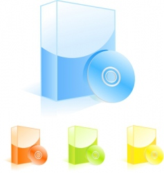 multicolored software boxes with cd vector image