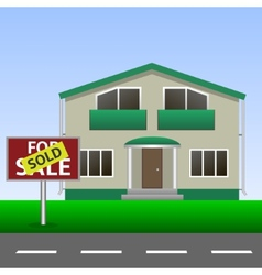 Sold home sign vector