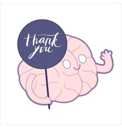 Thank you Brain collection vector image vector image