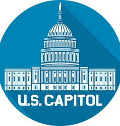 US Capitol Icon vector image