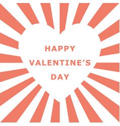 valentine day white heart shape space with vector image