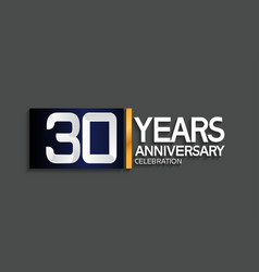 30 years anniversary logotype with blue vector