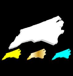 3d map of north carolina vector
