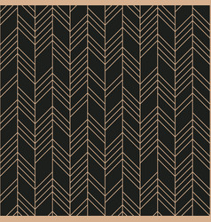 abstract geometric seamless pattern on black vector image