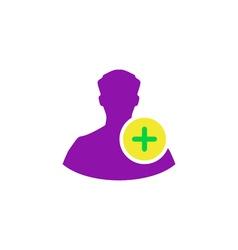 Add profile Icon vector