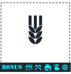 Agriculture icon flat vector