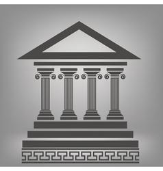 ancient columns vector image