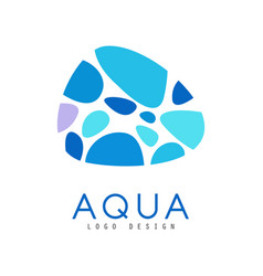 aqua logo design abstract brand identity template vector image