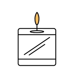aromatherapy candle spa isolated icon vector image