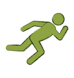 Athlete running pictograph vector