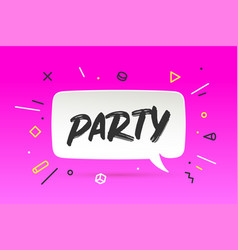 banner party in geometric style vector image