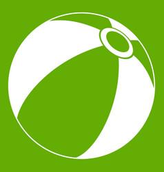 beach ball icon green vector image