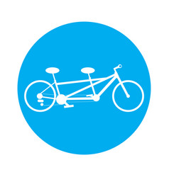 bicycle in a label vector image