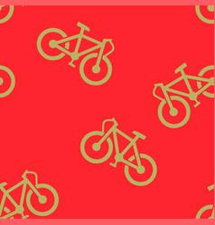bike pattern seamless vector image