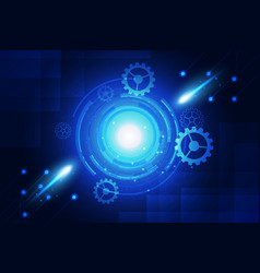 blue background abstract technology communication vector image vector image
