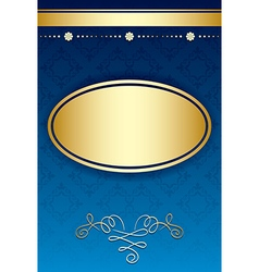 Blue background with gradient and golden decor vector