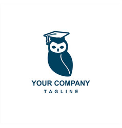 Blue owl education logo and icon vector