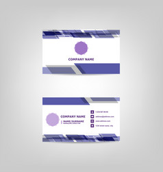 business card abstract design template vector image