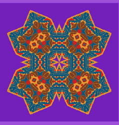 Childish style bright color four-corner mandala vector