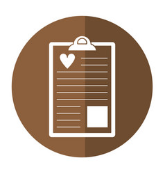 clipboard heart report shado vector image