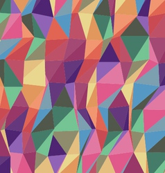 colorful triangle geometric pattern vector image