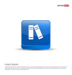 computer icon - 3d blue button vector image