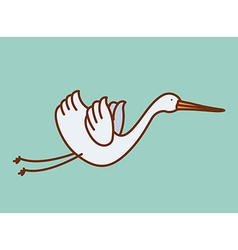 cute stork vector image