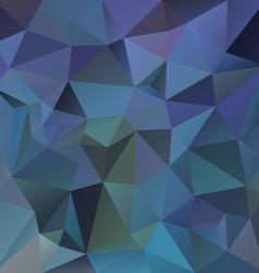 dark blue polygon triangular pattern background vector image
