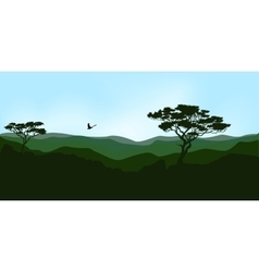 Dawn in the mountains vector