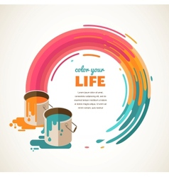 Design creative idea and color concept vector