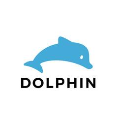 dolphin flat logo icon vector image