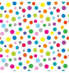dotted colorful seamless background vector image