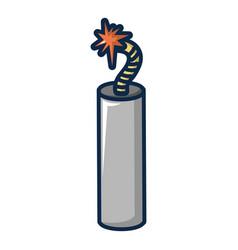 dynamite explosive icon cartoon style vector image
