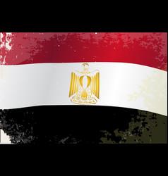 Egypt flag grunge vector